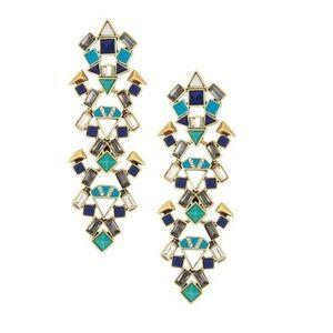 Stella & Dot Tile Chandelier Earrings